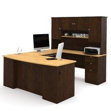 Manhattan U-Shape Executive Desk with Hutch