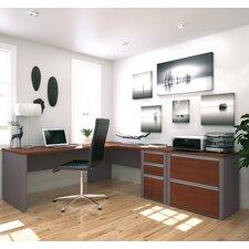 Connexion 2 Piece L-shaped Desk Office Suite