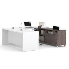 Pro-Linea 2-Piece U-Shape Desk Office Suite