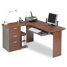 Capri L-Desk with Pedestal