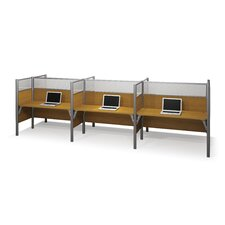 Pro-Biz Six-Straight Desk Workstation with 6 Privacy Panels (Per Workstation)