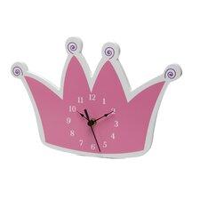 Star Princess Tiara Wall Clock