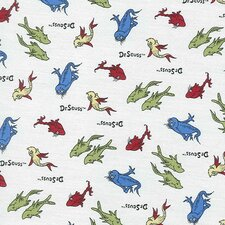 Dr. Seuss One Fish Two Fish Crib Sheet
