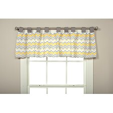 "Buttercup Zigzag 56"" Curtain Valance"