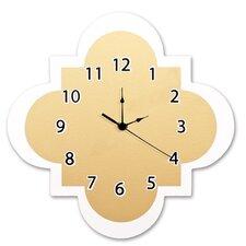 """Gold 11"""" Quatrefoil Wall Clock"""