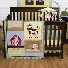 Baby Barnyard 3 Piece Crib Bedding Set