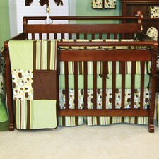 Giggles 4 Piece Crib Bedding Set