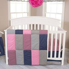 Perfectly Pretty 3 Piece Crib Bedding Set