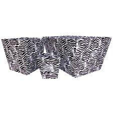Zebra 3 Piece Set Torage Bin In Black and White