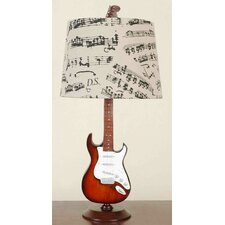 """Guitar 24.5"""" H Table Lamp with Empire Shade"""