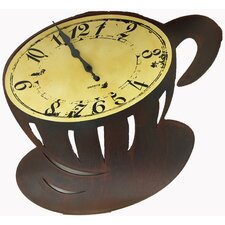 Coffee Cup Wall Clock