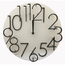 "12"" Raised Number Wall Clock"
