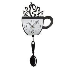 Cup and Pendulum Acrylic Wall Clock