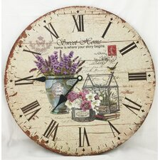 "13.38"" Flower Clock"