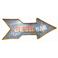 Beer Bar Battery Operated Metal Light Wall Decor