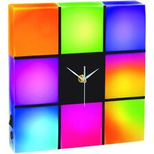 "Color Changing LED Panel Clock 9.8"" H Table Lamp"