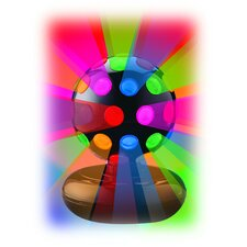 "Rotating Disco Ball Light 6"" H Table Lamp with Sphere Shade"