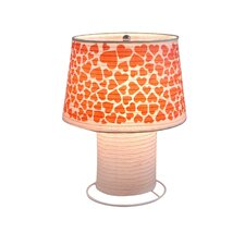 "Heart Desk Paper 11.81"" H Table Lamp with Empire Shade"