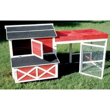 Barn Chicken Coop with Roof Top Planter