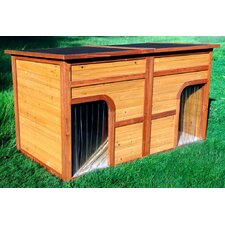 Flat Top Duplex Dog House