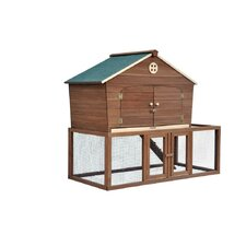 Ranch House Chicken Coop with Nesting Box