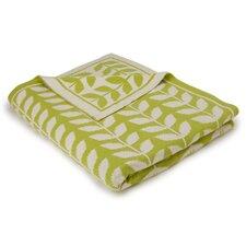 Leaf Cotton Throw Blanket
