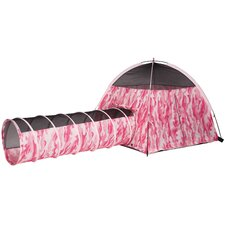 Camo Tent and Tunnel Set
