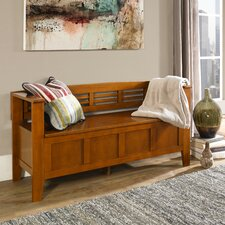 Adams Wood Storage Entryway Bench