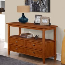 Warm Shaker Console Table