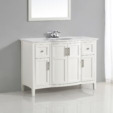 "Winston 49"" Single Rounded Front Bath Vanity Set"
