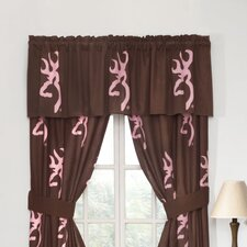 Pink Buckmark Lined Rod Pocket Drape Panels (Set of 2)