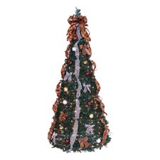 Pop Up 6' Green Artificial Christmas Tree with 350 Lights