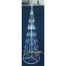 6' Christmas Tree with 96 LED Multi-Colored Bubble Cone Lights