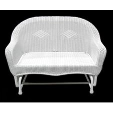 Resin Wicker Double Glider Patio Chair