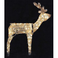 Animated 3D Standing Deer Christmas Decoration