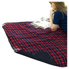 Picnic Blanket with Attached Case in London Plaid