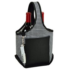 Houndstooth Two Bottle Carrier