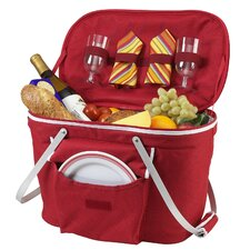 Collapsible Insulated Picnic Basket with Two Place Settings