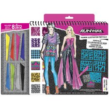 Project Runway Fashion Design Sketch Portfolio with Pencils