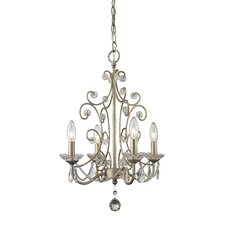 Princess 4 Light Candle Chandelier