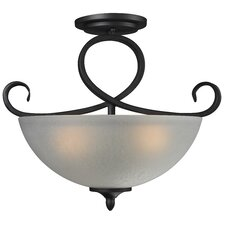 Arshe 3 Light Semi-Flush Mount
