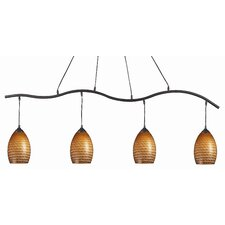 Jazz 4 Light Kitchen Island Pendant