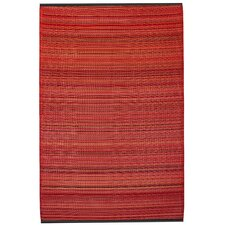 World Cancun Red Indoor/Outdoor Area Rug