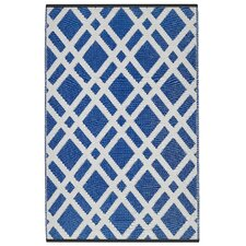 World Dublin Dazzling Blue & White Indoor/Outdoor Area Rug