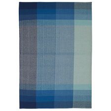 Zen Bliss Cotton Blue Area Rug