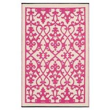 World Venice Cream & Pink Indoor/Outdoor Area Rug