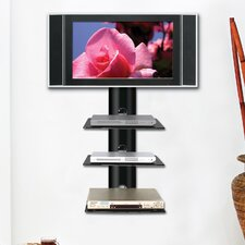 Monte Carlo Triple Wall-Mount Shelf System in Hi-Gloss Black