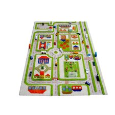IVI Carpet - 3D Traffic Green Play Rug