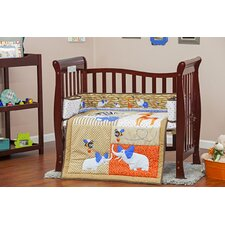 Jungle Babies Portable 3 Piece Crib Bedding Set