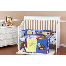 All-Star Portable 3 Piece Crib Bedding Set